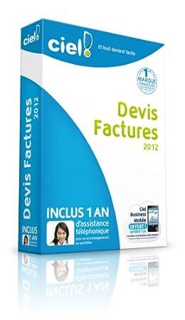 Ciel Devis Factures 2012 + 1 an d'assistance téléphonique