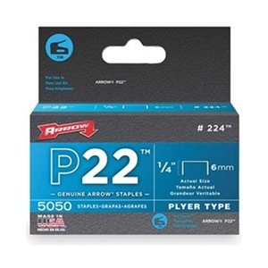 Arrow Fastener 224 1/4in. P22 Plier Type Staples 5,050/Box