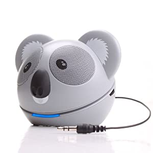 GOgroove Koala Pal High-Powered Portable Speaker System for MP3 Players , Smartphones , Laptops , Desktops , Tablets , and More!