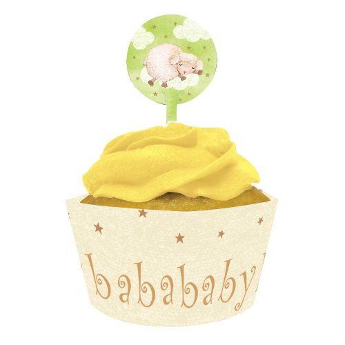 Creative Converting Baby Shower Ba Ba Baby 12 Count Cupcake Wrappers With Picks