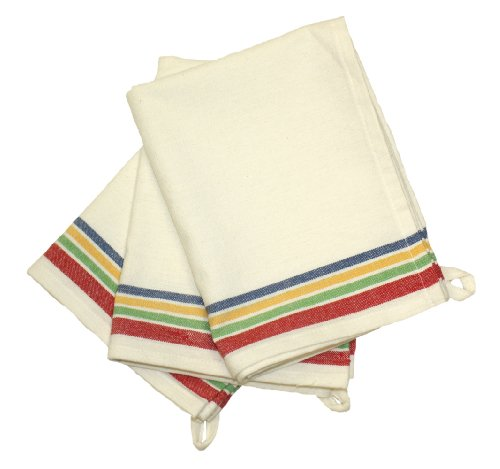 Cheapest Price! Aunt Martha's 18-Inch by 28-Inch Package of 3 Vintage Dish Towels, Multi Striped