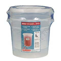 Cambro Round Food Storage Container Sets