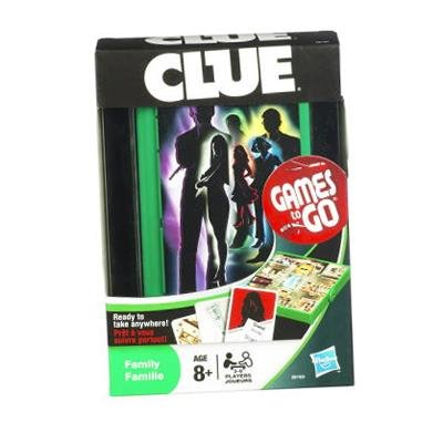 Hasbro Fun On the Run CLUE Travel Game