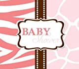 Wild Safari Pink Diecut Gatefold Baby Shower Invitations 25 Per Pack