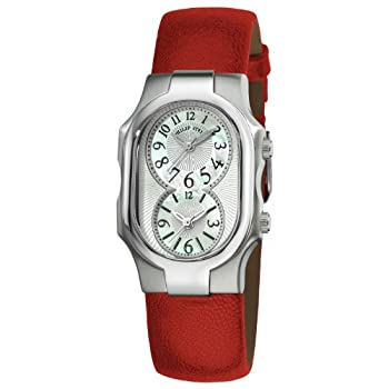 Philip Stein Women's 1-NFMOP-CPR Signature Red Pashima leather Strap Watch by Philip Stein
