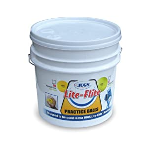 Buy Jugs Lite-Flite Softballs with Bucket by Jugs