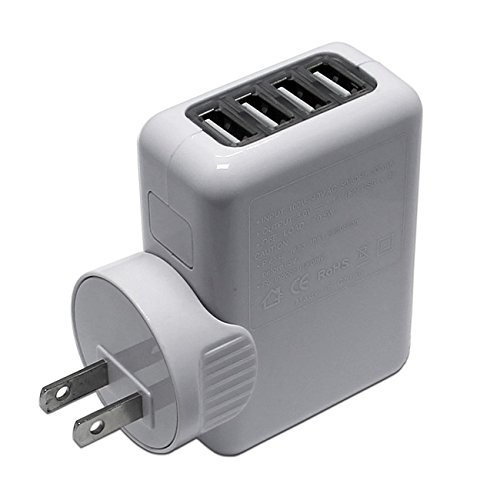 MaximalPower 4-Port USB Travel Charger/Power Outlet/AC Plug Adapter - Retail Packaging - White (Items Sold By Amazon compare prices)