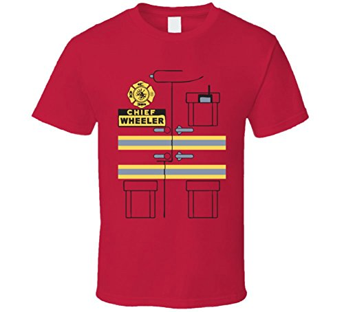 Firefighter Chief Wheeler Custom Name Lazy Halloween Costume T Shirt