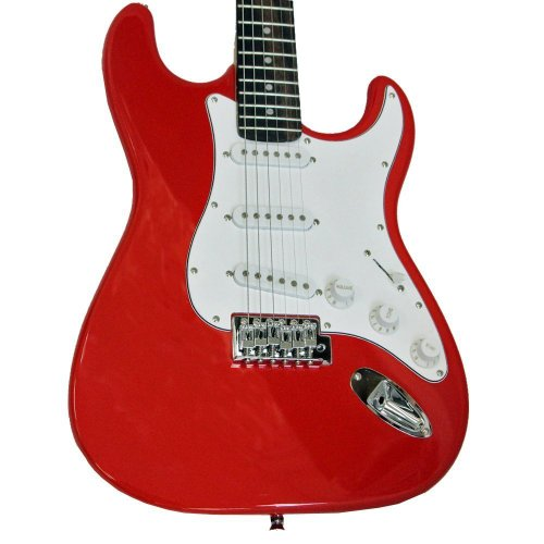DR Tech #R1 MSJ-R1 Red and White Electric Guitar