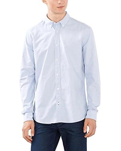 ESPRIT Camisa Hombre Azul Celeste