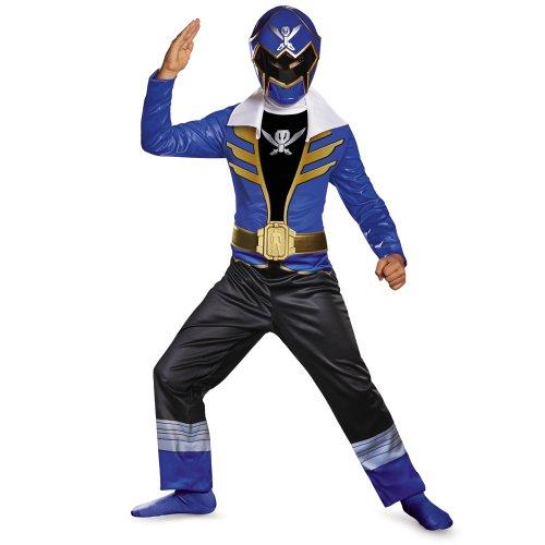 Saban Super MegaForce Power Rangers Classic Boys Costume-Size 4t-6t (Blue Ranger) (Power Rangers Blue Costume compare prices)