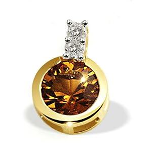 goldmaid Goldmaid - Fa C2944GG750 - Colgante de mujer de oro amarillo (18k) con 3 citrinos y diamantes