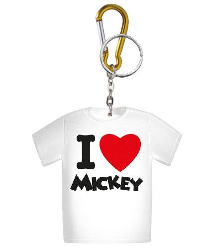 Disney I Love Mickey T-Shirt Coin Holder Key Ring - 1