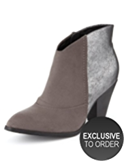 Limited Edition Pointed Toe Metallic Boots