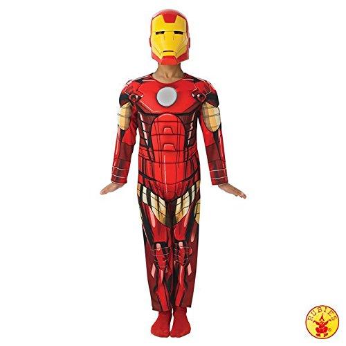 Iron Man The Avengers Deluxe Kostüm für Kinder, Größe:S