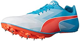 PUMA Men\'s Evospeed Sprint V6 Sneaker, Atomic Blue/Red Blast, 8 D US