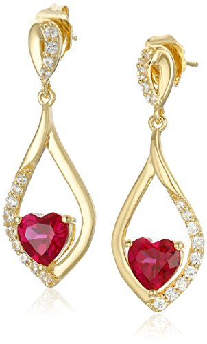 xpy-sterling-silver-gold-plated-created-ruby-heart-with-created-white-sapphire-accent-drop-earrings