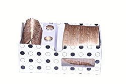 ELLIS Gift Set Of Tie,Pocket Square & Cufflink With Polka Dots Box