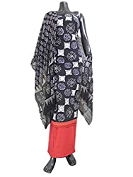 GiftPiper Bagru Print Cotton Suit- Black&Red