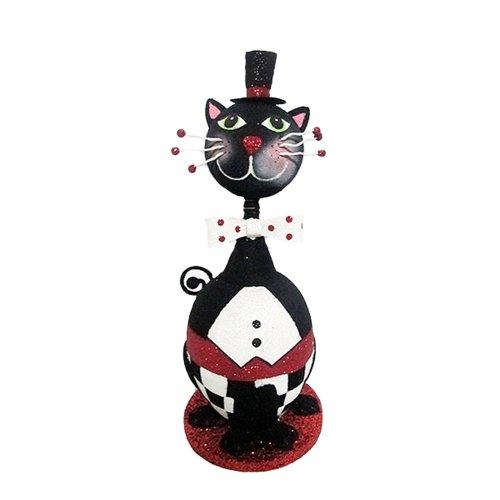Kurt Adler 12-1/2-Inch Halloween Cat Tabletop (Halloween Tabletop)