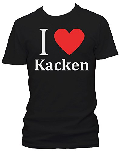 i love kacken fun herren t shirt gr e m farbe schwarz. Black Bedroom Furniture Sets. Home Design Ideas