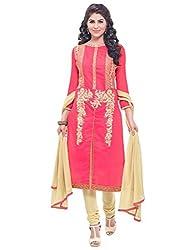 Kmozi's Fancy Designer Red Dress Material
