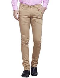 Nimegh Khaki Colored Casual Cotton Trouser For Men's