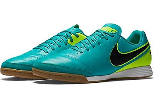 Nike Men's Tiempo Genio II Leather IC Clear Jade/Black/Volt Indoor Soccer Shoe 8.5 Men US (Tiempo Nike Ii compare prices)