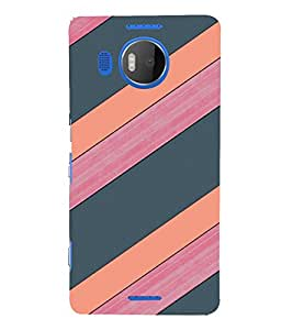 EPICCASE pink and grey Mobile Back Case Cover For Microsoft Lumia 950 XL (Designer Case)