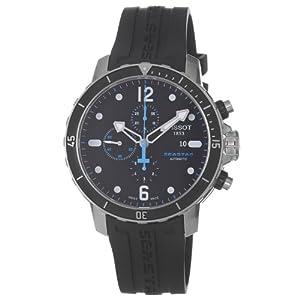 Tissot Seastar Chronograph Automatic Black Dial Mens Watch T0664271705700