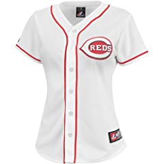 Majestic Athletic Cincinnati Reds Jay Bruce Ladies Replica Home Jersey by Majestic Athletic