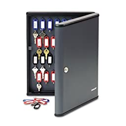 SteelMaster 2017260G2 Security Key Cabinets, 60-Key, Steel, Charcoal Gray, 12 x 2 3/8 x 14 3/4