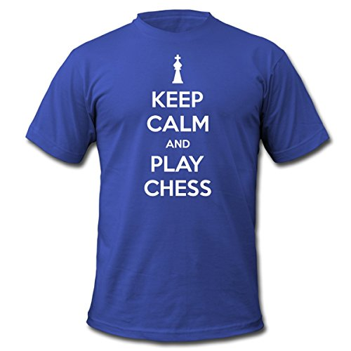 Spreadshirt Men's keep_calm_and_play_chess T-Shirt, royal blue, XXL