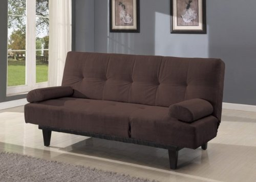 Acme 05855W-BR Cybil Adjustable Sofa Set with Two Pillows, Brown