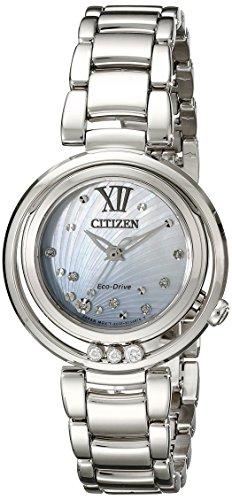 Citizen Women's EM0320-59D Citizen L Sunrise Analog Display Japanese Quartz Silver Watch