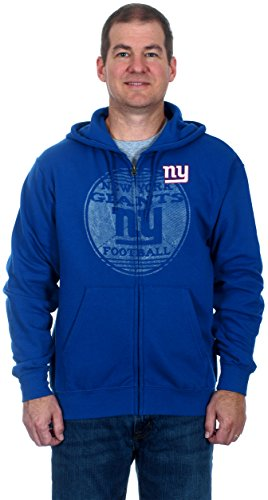 New York Giants Men's Zip-Up Fleece Hoodie (Medium) (Giant Jordan Box Draw compare prices)