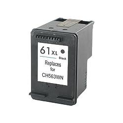 Remanufactured HP No 61XL 61 XL (563WN / CH563WN) Black Printer Ink Cartridge for HP DeskJet Printers (High Capacity / Yield Black CH563 InkJet Cartridge)