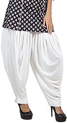 Pietra Girls Viscose Dhoti Salwar (WH0068-L, White, Large)