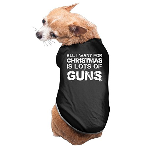 [All I Want For Christmas Is Guns Cozy Puppy Dog Outfit Clothing] (Patriarchy Costume)