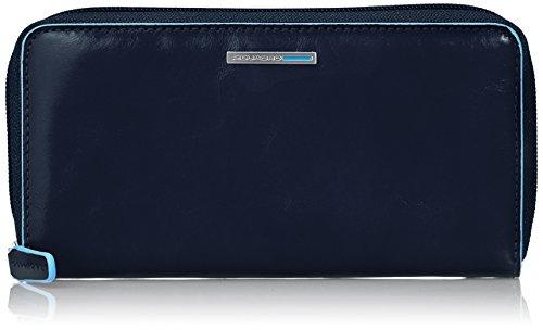 Piquadro PD3229B2/BLU2 Blue Square Portafoglio, Blu, 18 cm