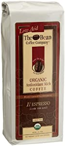 The Bean Coffee Company Il Espresso (Classic Dark Roast), Organic Ground, 16-Ounce Bags (Pack of 2) from The Bean Coffee Company
