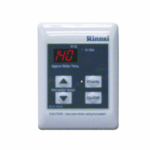 Rinnai Mc-91-2W Standard Remote Controller - Residential Or Commercial, 98-Degree -140-Degree F, White