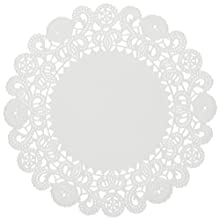 "Brooklace LA905-2M 5"" Round White Bond Lace Doily (Case of 2,000)"