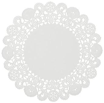 "Brooklace LA905-2M 5"" Round White Bond Lace Doily (Case of 2,000)"