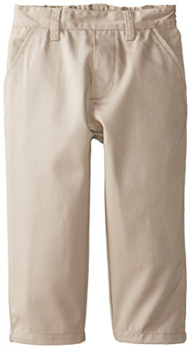 U.S. Polo Association Little Boys' Flat Front Twill Pants, Khaki, 3T