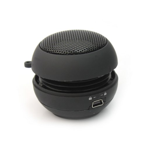 Rhx Black Mini Hamburger Portable 3.5Mm Audio Speaker For Iphone Pc Mp3 Player New