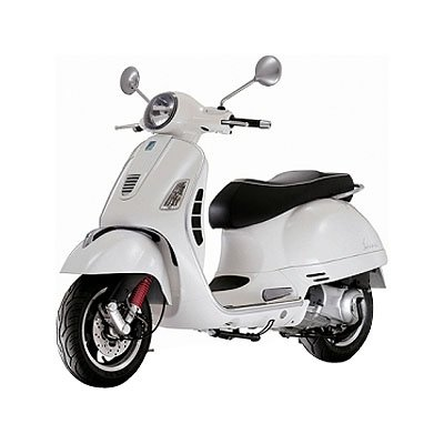 New Ray Vespa GTS 300 Super Replica Motorcycle Toy - White / 1:12 Scale