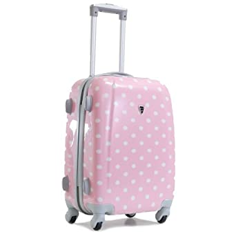 bagages madisson valise cabine a pois 4 roues rigide 50cm rose v tements et. Black Bedroom Furniture Sets. Home Design Ideas
