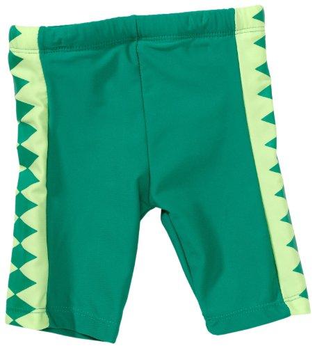 Playshoes Unisex - Baby Babybekleidung/ Badebekleidung UV-Schutz nach Standard 801 und Oeko-Tex Standard 100 Badehose Shorty Krokodil mit Windeleinsatz 460028, Gr. 86/92, Grün (900 original)