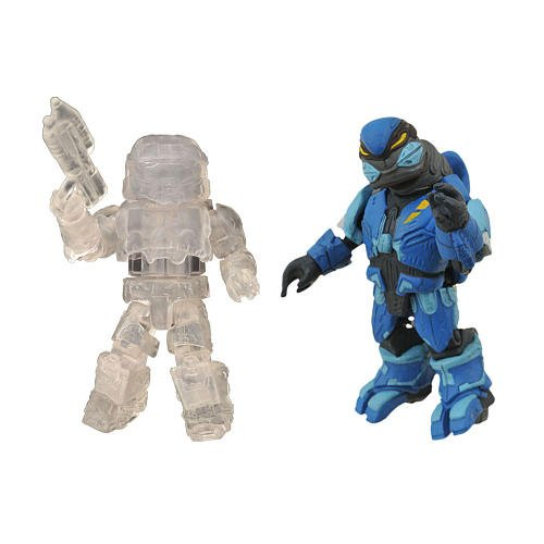 Picture of Diamond Select Halo Minimates Exclusive Series 2 Mini Figure 2Pack Spartan (Active Camouflage) Elite Assault (Blue) (B0052ULNZ4) (Halo Action Figures)